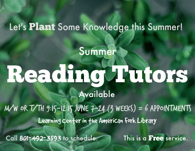 Summer Reading Tutors 2021