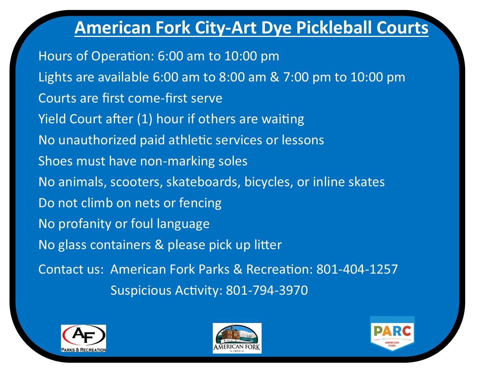 AF City Pickleball Rules